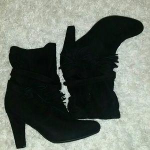Black Express Boot heels